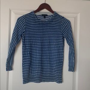 J Crew gingham light weight sweater top
